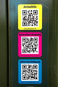 Bidi Codes, Bayonne, Aquitaine, Pyrenees Atlantiques, France.
