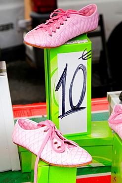 Shoe shop, Bayonne, Aquitaine, Pyrenees Atlantiques, France.