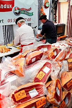 Ham, Ham fair, Bayonne, Aquitaine, Pyrenees Atlantiques, France.