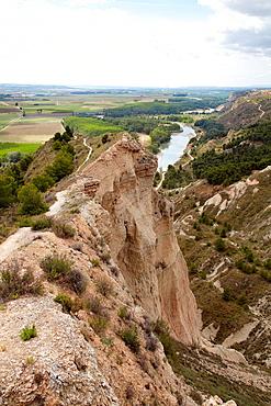Aragon and Arga rivers¥ confluence, Penalen ravine, Funes, Navarre, Spain.