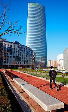 Iberdrola Tower, Abandoibarra, Bilbao, Bizkaia, Basque Country, Spain.
