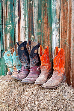 United States, Wyoming, Shell, The Hideout Guest Ranch, cowboy boots.