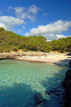 Calo den Borgit, Natural Park Mondrago, Santanyi, Migjorn, Mallorca, Balearic Islands, Spain