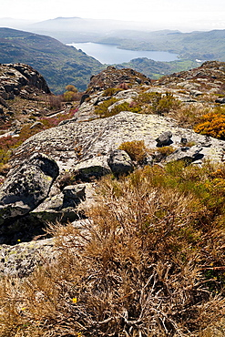 Sanabria lake from the Payon hill Zamora Castilla Leon Spain