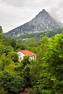 San Vicente peak from Ramales de la Victoria Santander Cantabria Spain