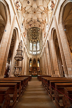 The Interior Of The Unesco St Barbara Church In Kutna Hora, Czech Republic