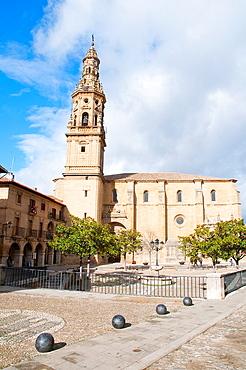 Church of La Asuncion. Main Square, Briones, La Rioja province, Spain.