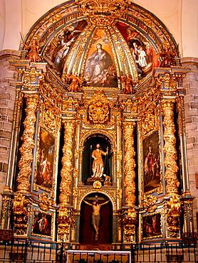 Altarpiece of San Juan church Atienza Guadalajara Spain