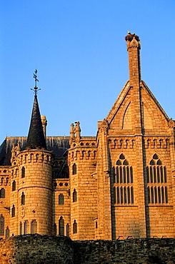 Bishop¥s Palace by Gaudi 1887-1893, Astorga Leon province, Castilla-Leon, Spain