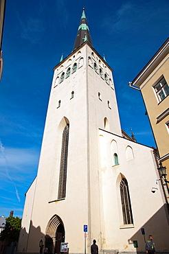 Oleviste kirik the St Olav¥s church 1519 once the tallest building in the world in Lai street Vanalinn the old town Tallinn Estonia Europe