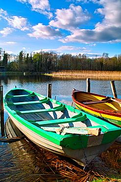 Rowing boats at Tudenham, Lough Ennell, Mullingar, County Westmeath.