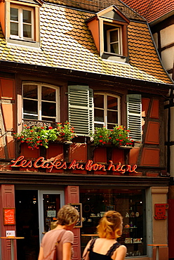 Cafe at the city center, Colmar, Alsace, France