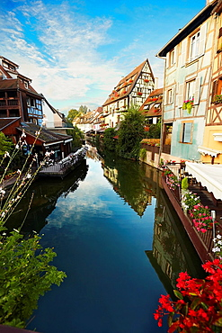 Timber framing houses at Little venice, Colmar, Alsace, France