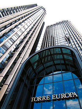 Europa Tower, Azca financial district, Madrid Spain.