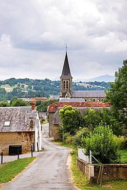 Mauvezin village in Hautes-Pyrenees district of France