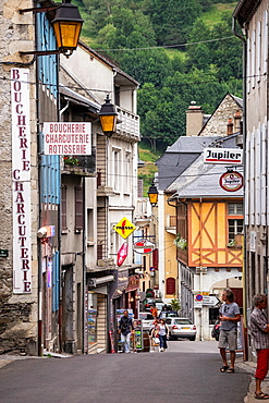 Small town Arreau in Hautes-Pyrenees region of France