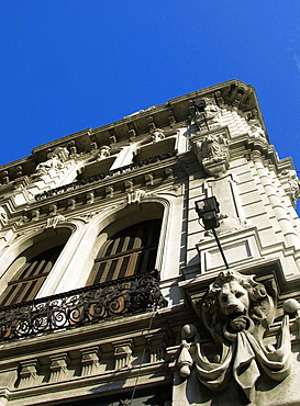 Art Nouveau architecture in downtown Montevideo, Uruguay, South America