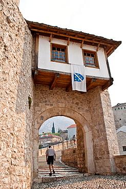 Arched gate to Old bridge, Mostar, Bosnia and Herzegovina