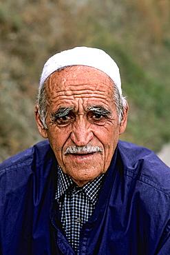 Portrait of local man in Albania near Tirana