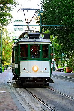 Trolley Car Trasnportation Memphis Tennessee TN