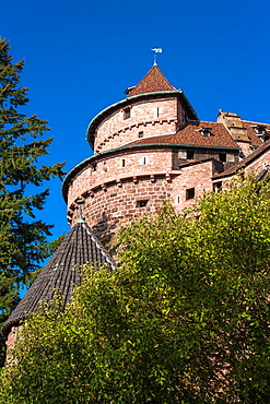The historic castle of Haut-Koenigsbourg Hochkonigsburg, Alsace, France, Europe
