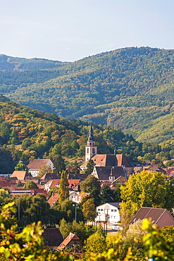 The charming village of Andlau, Alsace, France, Europe