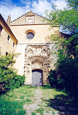 Facade of Santa Cruz la Real. Segovia, Castilla Leon, Spain.