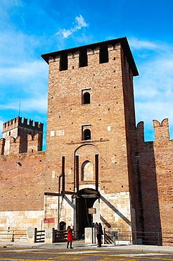 Castelvecchio fortress 1355 Verona city the Veneto region northern Italy Europe