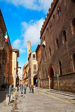 Via Castiglione street Quadrilatero area central Bologna city Emilia-Romagna region northern Italy Europe
