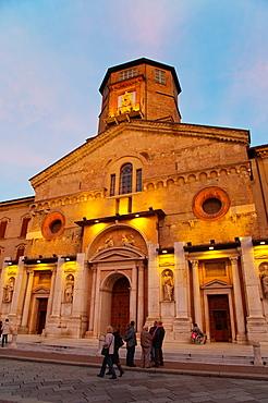 Dome the Cathedral at Piazza Prampolini square Reggio Emilia city Emilia-Romagna region northern Italy Europe