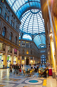 Galleria Umberto I 1900 shopping arcade central Naples city La Campania region southern Italy Europe