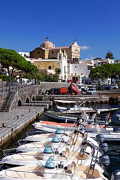 The little port of Santa Marina Salina, Salina island, Aeolian islands, Sicily, Italy