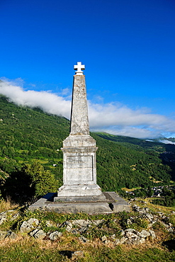 Memorial de Solferino in small town Luz-Saint-Sauveur in Hautes-Pyrenees, France