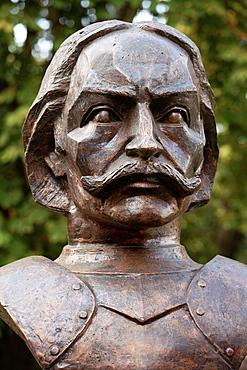 Romania, Timisoara, Janos Hunyadi, statue, Hungarian military political figure,