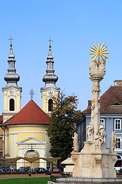 Romania, Timisoara, Piata Unirii, Serbian Orthodox Church, Trinity Column,