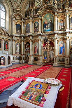 Romania, Timisoara, Serbian Orthodox Church, interior,