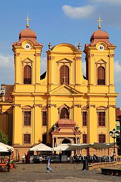 Romania, Timisoara, Roman Catholic Cathedral, Piata Unirii,