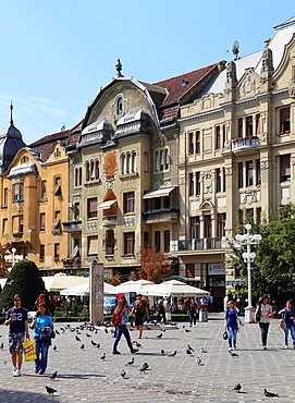 Romania, Timisoara, Piata Victoriei, people,