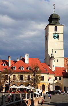Romania, Sibiu, Piata Mica, Council Tower,