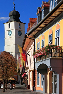 Romania, Sibiu, Piata Mare, Council Tower,