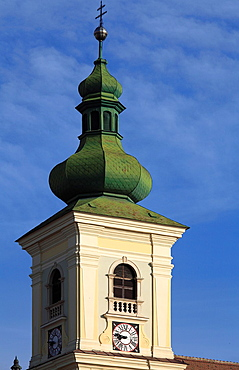 Romania, Sibiu, Piata Mare, Holy Trinity Catholic Church,