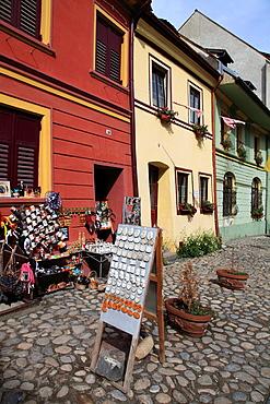 Romania, Sighisoara, old town, main square, souvenir shop,