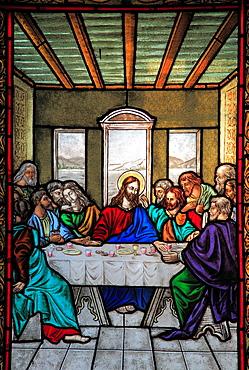 Romania, Targu Mures, Greco-Catholic Cathedral, interior, Last Supper image