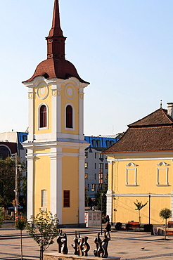 Romania, Targu Mures, Franciscan Church Tower,