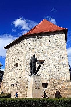 Romania, Cluj-Napoca, Tailors Bastion, Baba Novac statue,