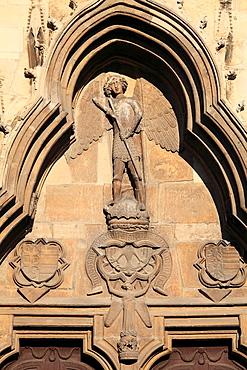 Romania, Cluj-Napoca, St Michaels Church, door, detail,