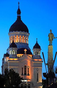 Romania, Cluj-Napoca, Orthodox Cathedral, Avram Iancu statue,