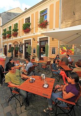 Romania, Cluj-Napoca, cafe, people, street scene,