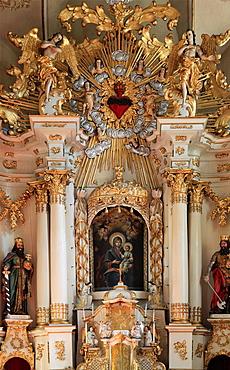 Romania, Cluj-Napoca, Franciscan Church, interior,