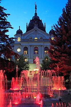 Slovakia, Kosice, State Theatre, Musical Fountain,
